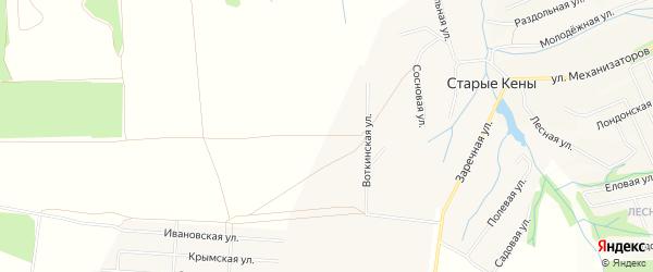 Территория СНТ Зодиак на карте Завьяловского района Удмуртии с номерами домов