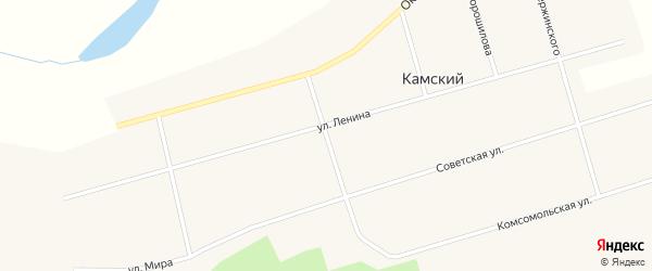Профсоюзная улица на карте Камского поселка Кировской области с номерами домов
