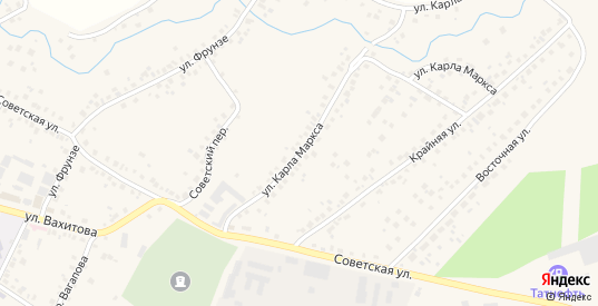 Улица К.Маркса в Бавлах с номерами домов на карте. Спутник и схема онлайн