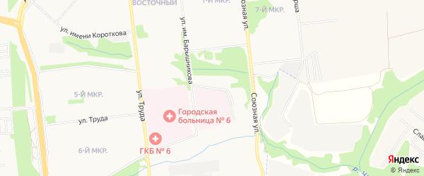 Территория ГСК Ярушки на карте Завьяловского района Удмуртии с номерами домов