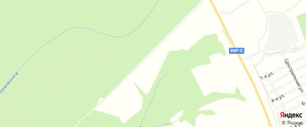 Территория СНТ Василек на карте Завьяловского района Удмуртии с номерами домов