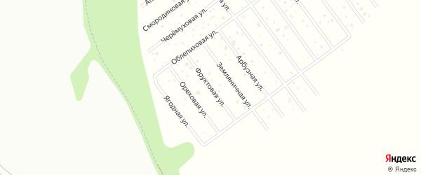 Фруктовая улица на карте территории Завьяловские садов Удмуртии с номерами домов