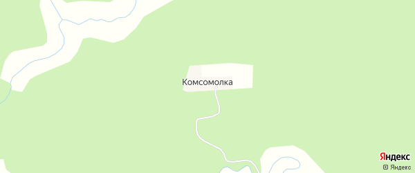 Карта поселка Комсомолки в Татарстане с улицами и номерами домов