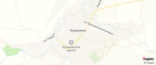 Карта села Кузькино в Оренбургской области с улицами и номерами домов