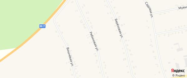 Рябиновая улица на карте села Зуры Удмуртии с номерами домов