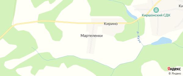 Карта деревни Мартеленок в Удмуртии с улицами и номерами домов