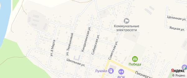 Рабочая улица на карте села Илека Оренбургской области с номерами домов