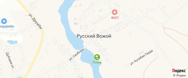 Берсеневая улица на карте деревни Русского Вожой Удмуртии с номерами домов