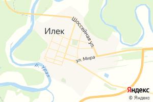 Карта с. Илек Оренбургская область