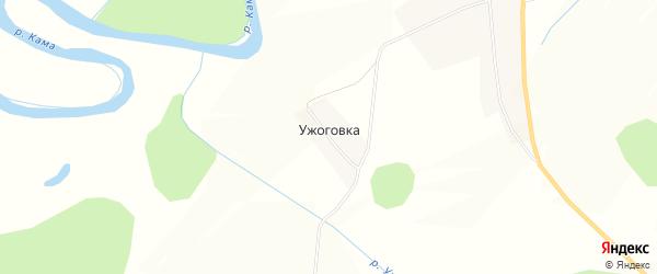 Карта деревни Ужоговки в Кировской области с улицами и номерами домов