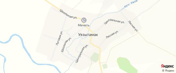 Карта села Уязытамак в Башкортостане с улицами и номерами домов