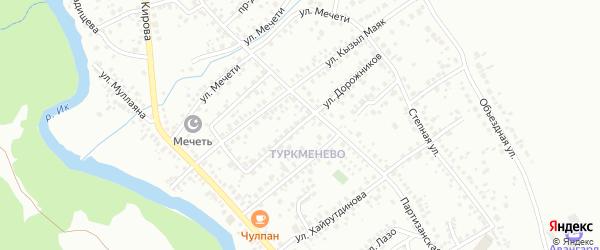 Улица Дорожников на карте Октябрьского с номерами домов