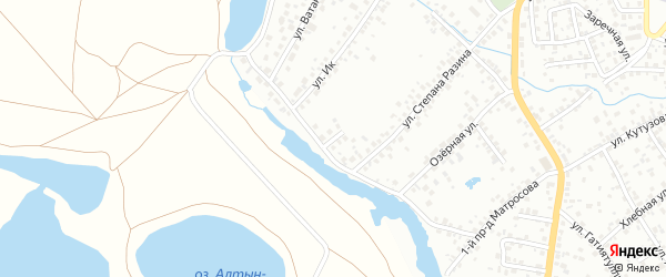 Тупик Ст.Разина на карте Октябрьского с номерами домов
