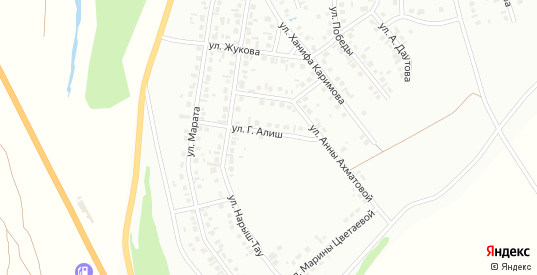 Проезд Г.Алиш в Октябрьском с номерами домов на карте. Спутник и схема онлайн