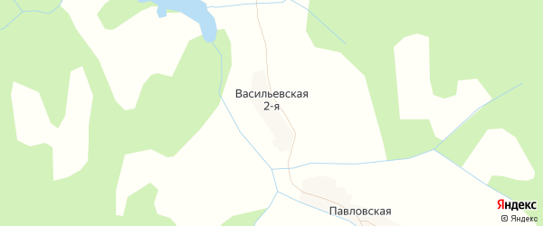 Карта Васильевской деревни в Кировской области с улицами и номерами домов