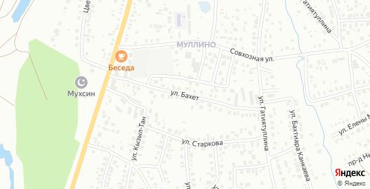 Улица Бахет в Октябрьском с номерами домов на карте. Спутник и схема онлайн