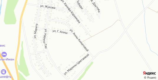 Улица А.Ахматовой в Октябрьском с номерами домов на карте. Спутник и схема онлайн