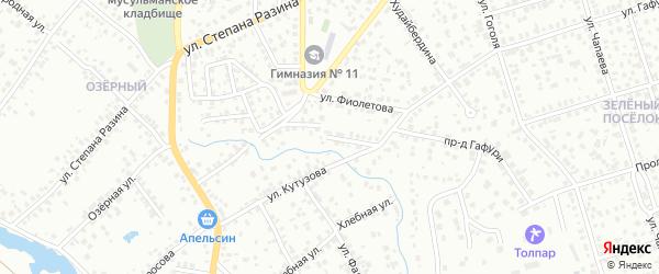 Колхозная улица на карте Октябрьского с номерами домов