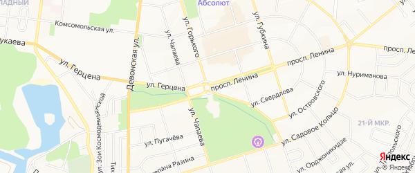 Территория ГСК N9 на карте Октябрьского с номерами домов