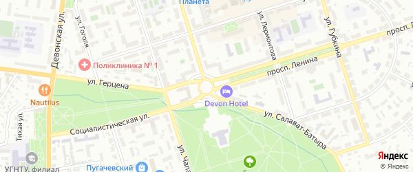 ГСК Вираж-47 на карте Октябрьского с номерами домов