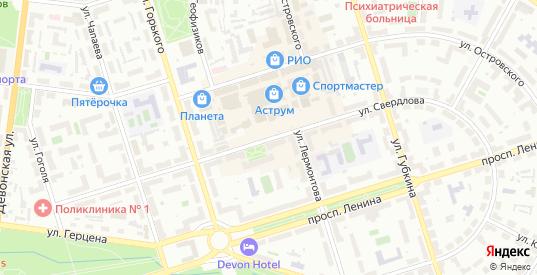 Улица Свердлова в Октябрьском с номерами домов на карте. Спутник и схема онлайн