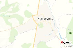 Карта с. Матвеевка Оренбургская область