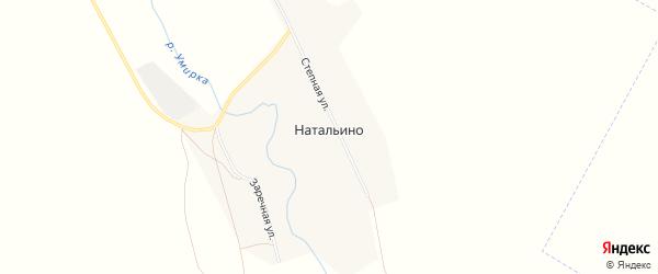 Карта села Натальино в Оренбургской области с улицами и номерами домов
