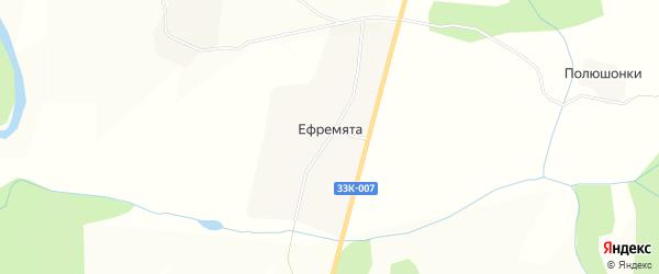 Карта деревни Ефремяты в Кировской области с улицами и номерами домов