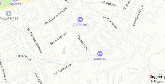 Полевая улица в Октябрьском с номерами домов на карте. Спутник и схема онлайн