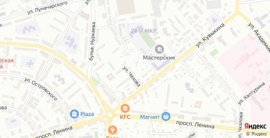 Тупик Чехова в Октябрьском с номерами домов на карте. Спутник и схема онлайн