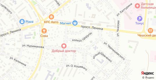 Кольцо Цюрупы в Октябрьском с номерами домов на карте. Спутник и схема онлайн