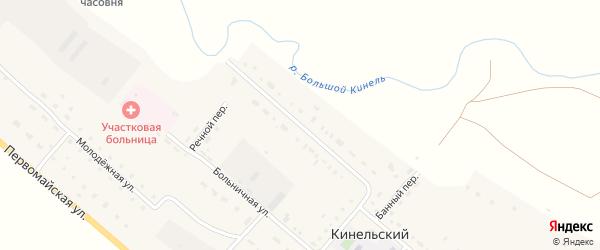 Совхозная улица на карте Кинельского поселка Оренбургской области с номерами домов