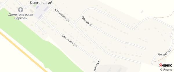 Парковая улица на карте Кинельского поселка Оренбургской области с номерами домов