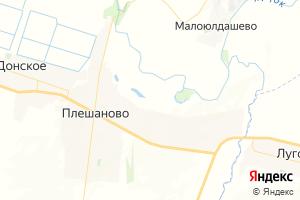 Карта с. Плешаново Оренбургская область