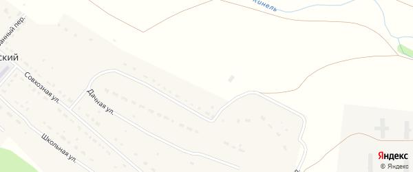 Дачная улица на карте Кинельского поселка Оренбургской области с номерами домов