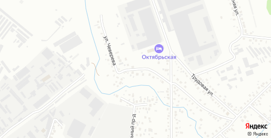 Улица Чеверева в Октябрьском с номерами домов на карте. Спутник и схема онлайн