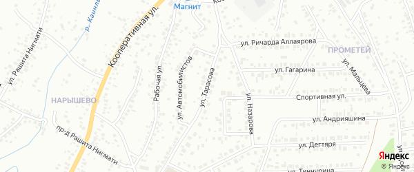 Улица Тарасова на карте Октябрьского с номерами домов