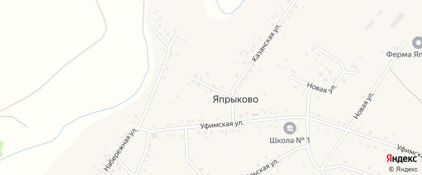 Горная улица на карте села Япрыково с номерами домов