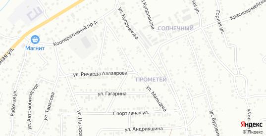 Улица Мальцева в Октябрьском с номерами домов на карте. Спутник и схема онлайн