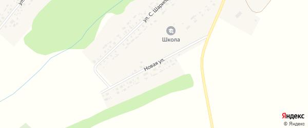 Новая улица на карте села Старое Айманово Татарстана с номерами домов