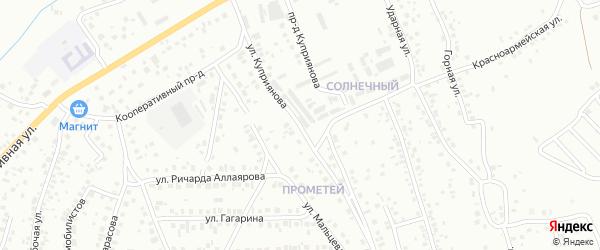 Улица Куприянова на карте Октябрьского с номерами домов