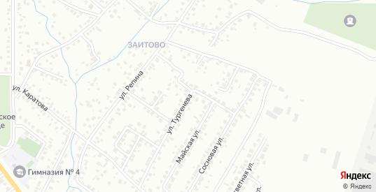 Улица Тургенева в Октябрьском с номерами домов на карте. Спутник и схема онлайн