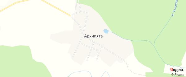 Карта деревни Архипяты в Кировской области с улицами и номерами домов