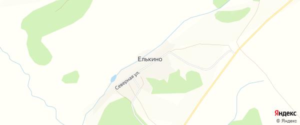 Карта деревни Елькино в Удмуртии с улицами и номерами домов