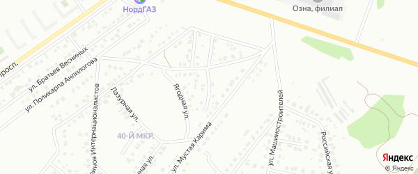 Улица Рината Марданшина на карте Октябрьского с номерами домов
