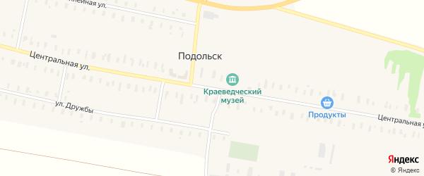 Центральная улица на карте села Подольска Оренбургской области с номерами домов