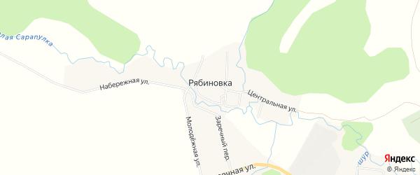 Территория массив Набережный на карте деревни Рябиновки Удмуртии с номерами домов