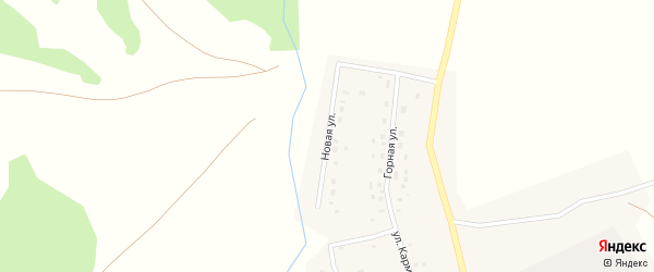 Новая улица на карте села Какрыбашево с номерами домов