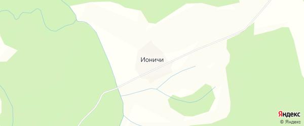 Карта деревни Ионичи в Кировской области с улицами и номерами домов