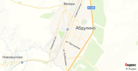 Карта Абдулино с улицами и домами подробная. Показать со спутника номера домов онлайн